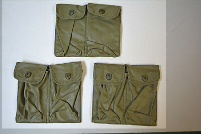 Vietnam Vintage USAF Air Force Security Police Rubberized Magazine Pouches