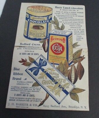 Early 1900s Ansonia CT Store Receipt with J H Barker & Co Chocolate Advertising