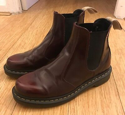 679e4c615fcb8 DR MARTENS VEGAN 2976 size 9 used cherry red