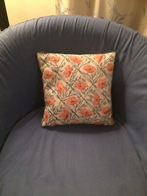 Gorgeous * Ehrman * completed Handmade tapestry needlepoint cushion + pad