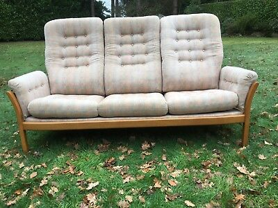 ERCOL Saville Three Seater Sofa - Blonde