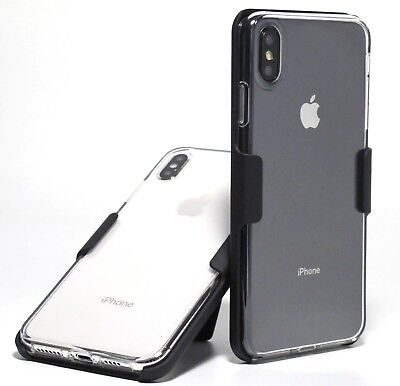 for iPhone XS Max Shockproof Slim CLEAR TPU CASE + BELT CLIP HOLSTER (new other)