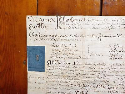 1753 Manor of Holtby Yorkshire 18th century Georgian Vellum Deed Document