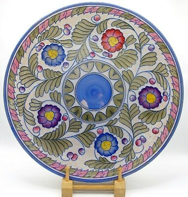"Monumental CHARLOTTE RHEAD Crown Ducal Palermo 5803 Charger/Wall Plaque 17""/44cm"