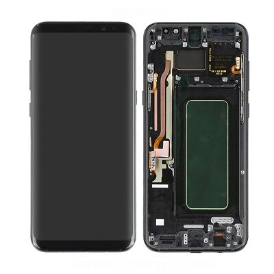 LCD Display Touch Screen Digitizer Assembly + Frame for Samsung Galaxy S8 S8+