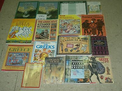 Greenleaf Press FAMOUS MEN OF GREECE History for the Thoughtful Child Huge LOT