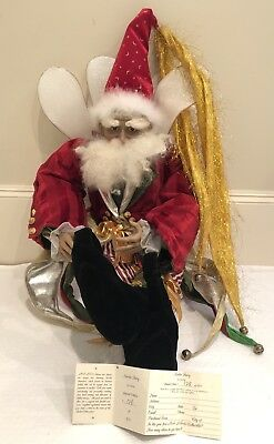 Porzellanpuppen Mark Roberts Collection XL Standing Jester Doll 26