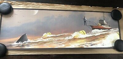JC Richard Jaws The Chase Art Print Poster Amity '74 S/N Edition Of 80 36X12