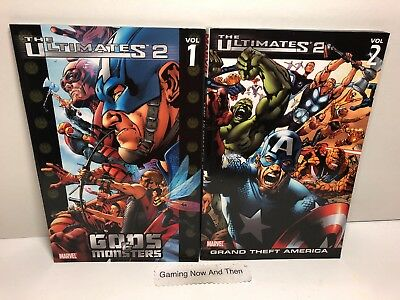The Ultimates 2 Vol 1 Gods and Monsters Vol 2 Grand Theft America Marvel