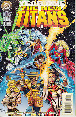 DC New Titans, Annual 11, 1995, Year One, Marv Wolfman, Greg Land
