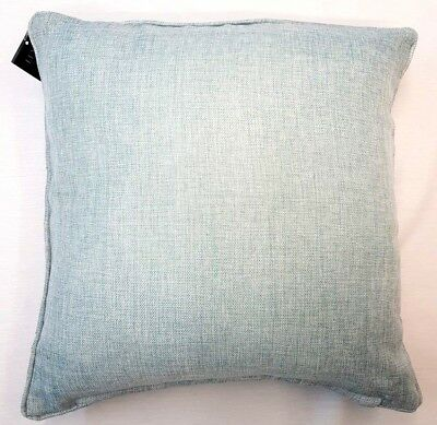 """Set Of 2 Pale  Blue Baby Blue Soft Weave Textured 18"""" Cushion Cover £11.95 Set"""