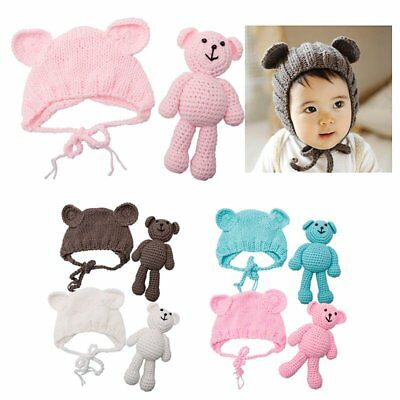Newborn Baby Boy Girl Photography Prop Outfit Photo Knit Crochet Clothes LW