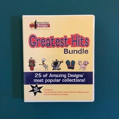 Amazing Designs Greatest Hits Bundle Embroidery Design CDs
