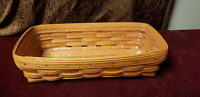 Longaberger Handwoven Basket with Liner 1991