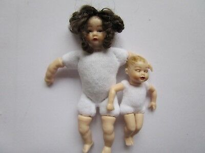 1:12 scale undressed Heidi Ott dollhouse toddler and baby doll set