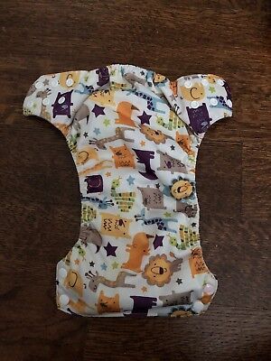 Blueberry Basix All in One Cloth Diapers - Medium AIO Animals-one Snap Replaced