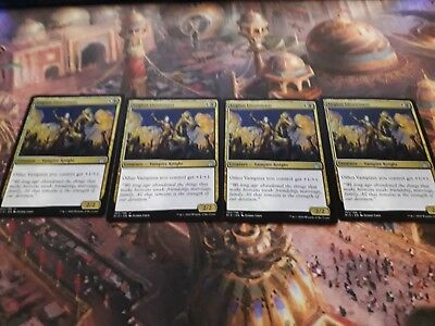 4 x Legion Lieutenant  (1 x PLAYSET) ~ Rivals of Ixalan LP ~ MTG