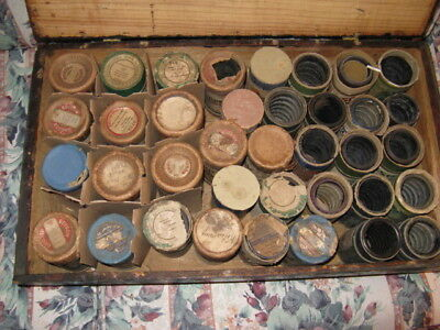 Lot of 37  Amberol  Cylinder Phonograph Records Edison Blue