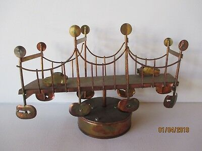 Vintage Golden Gate Music Box That Is Working - Brass-Metal -  Free Shipping