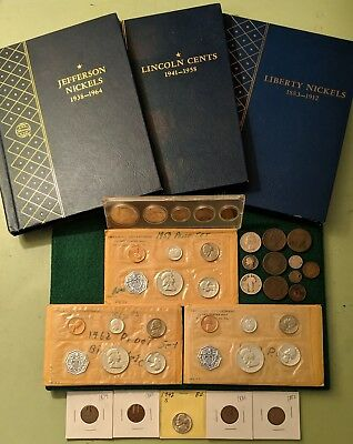 US Coin COLLECTION Lincoln Wheat Liberty Jeffrrson Proof Sets Silver