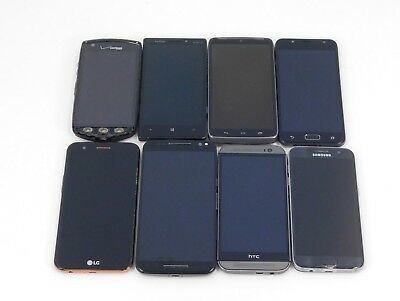 8 Lot Smart Phones- Various Models- All are Verizon Wireless for PARTS