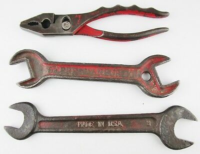 Vintage Farm Tractor Implement Tool Lot Pliers Wrenches Old Hand Tools