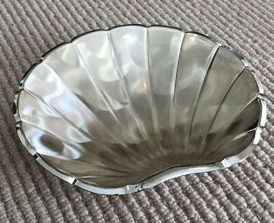 Vintage WMF West Germany Silver Plate Clam Shell Shaped Tray with Ball Feet