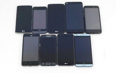 9 Lot Smart Phones- Various Models- All are AT&T Wireless/Cricket for PARTS