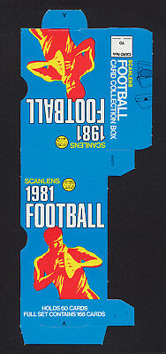 1981 Scanlens Rugby League Football Card Collection Box