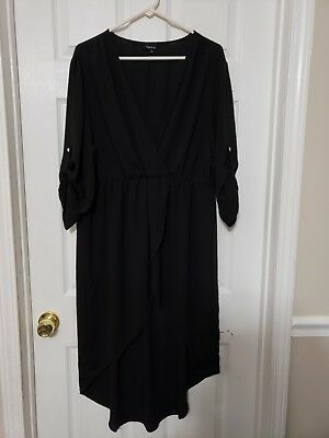 Torrid 3 3x plus size womans Black sheer Hi/lo Top shirt cardigan cover up