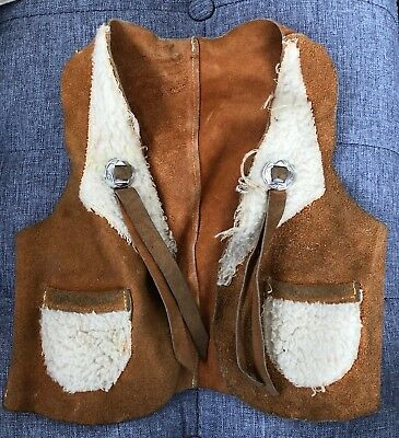 Child's Suede Leather Cowboy / Cowgirl Western Vest - size 6?