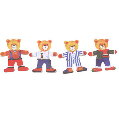 Puzzles Wooden Baby Educational Toy Cartoon Bear Clothes Children Gifts G
