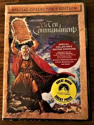 The Ten Commandments by Cecil B DeMille-Special Collector's Edition -Sealed