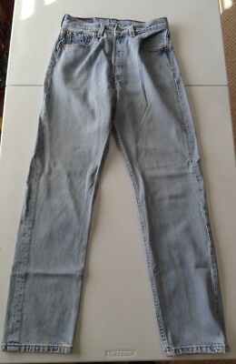 Vintage American Women's 501 Levi's 29x30 Button Fly Blue Jeans Made In USA