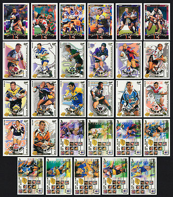 2001 / 02 Select NRL 3 Sets of Inserts Cards: Enforcers, Club Player and Team