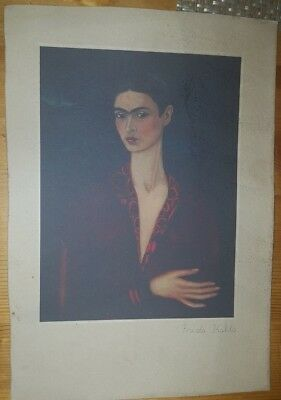 FRIEDA KAHLO Superb Lithograph Hand Signed in Pencil