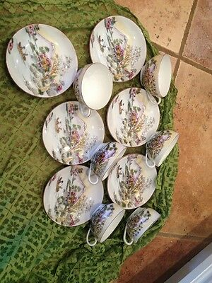 Antique Set Of Six Japanese Tea Cups And Saicers Lovely