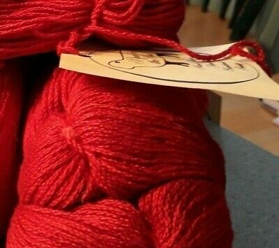 Dyed in the Wool,ltd 100% Pima Cotton HandPainted Valentine Red  color Skein