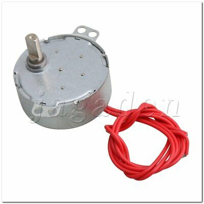 Metal Silver AC 12V 4-5 RPM Synchron Motor for Fan DIY Work Torque 6KGF.CM