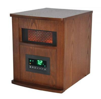 LifeSmart 6 Element Quartz w/Wood Cabinet and Remote Large Room Infrared Heater