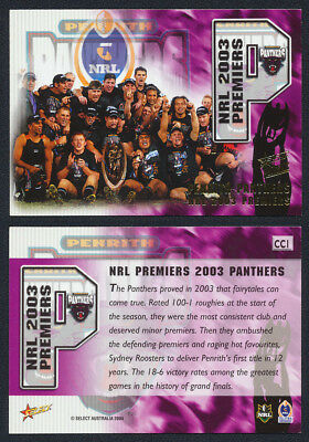 2003/04 Select NRL Panthers Premiers Case Card 1