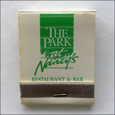 The Park at Nancy's Restaurant & Bar 1 Riccarton Christchurch Matchbook (MK41)