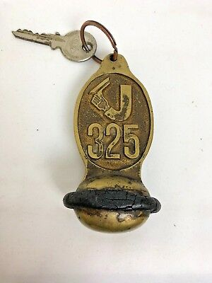 Vintage Jolly Hotel Trieste - Room 325 Heavily Weighted Fob And Key Rare