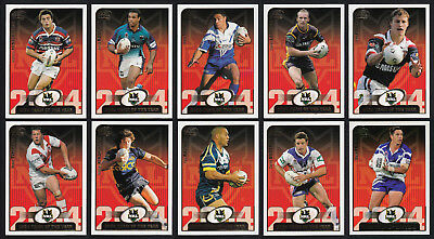 2004/05 Select NRL Team of 2004 Set of 10 Cards