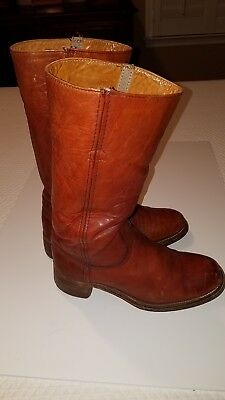 Vintage Frye Burgundy Oxblood Leather 1970's Campus Pull On Boot 2950 10D
