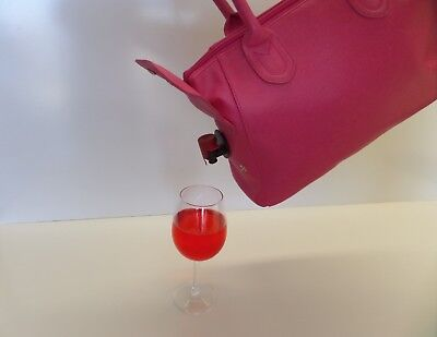 Wine Bottle Insulated Cooler Bag Tote Carrier Purse Handbag pink