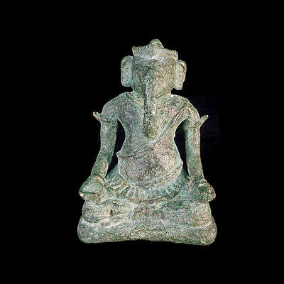 A Khmer bronze statue of the God Ganesh x7602