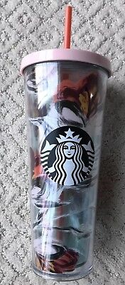 NEW Starbucks 2019 Limited Edition Spring Floral Valentines Cold Cup 24oz