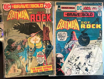 The Brave and the Bold #108 and #124 Batman and Sgt. Rock Very Fine DC