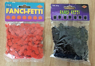 Beistle Halloween Black Spider & Pumpkin Fanci-Fetti Confetti NEW
